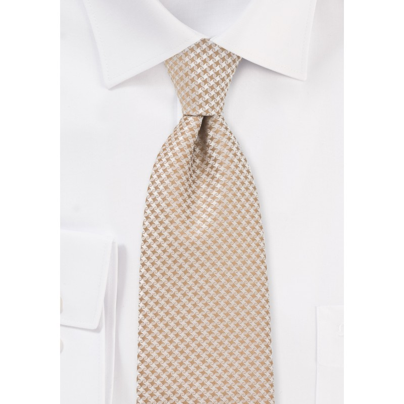 Extra Long Tie in Golden Wheat