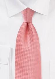 Textured Tie in Coral Sorbet