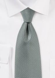 Textured Tie in Gray