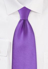 Solid Bright Purple Necktie