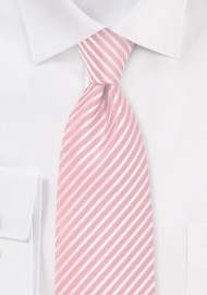 Petal Pink Striped Necktie
