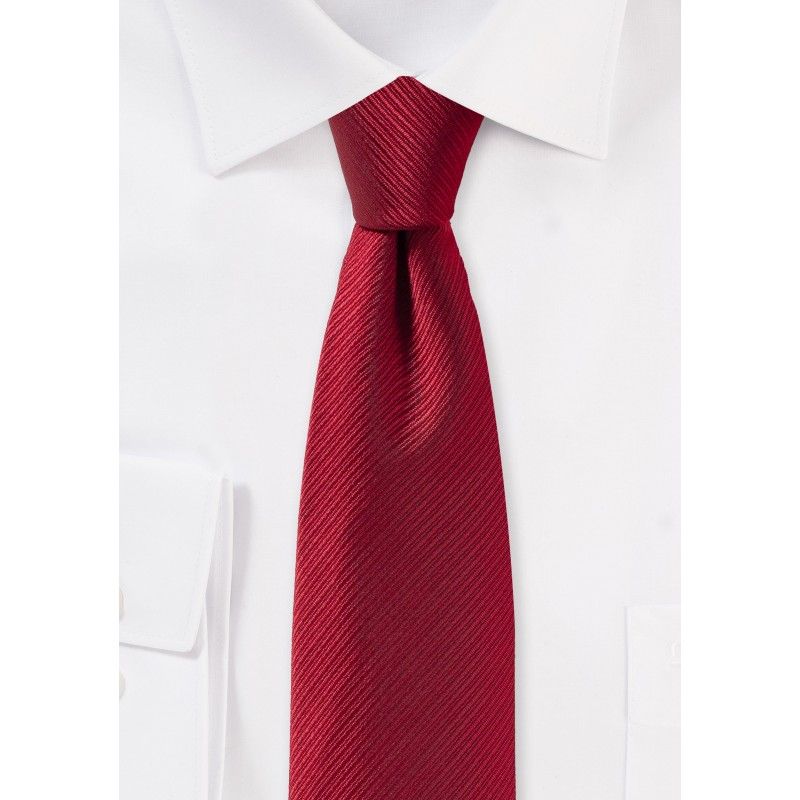 Skinny Tie in Cherry Red