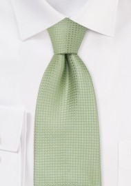 Silk neckties -  Light green designer silk tie