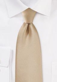 Oatmeal Colored Necktie for Kids