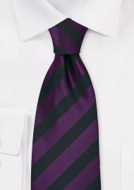 Black and Purple Striped Kids Necktie