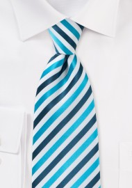 Comtemporary Blue Striped Tie