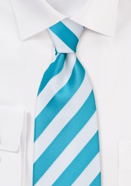 Mermaid Teal and White Tie for Kids