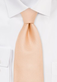 Kids Silk Tie in Light Apricot