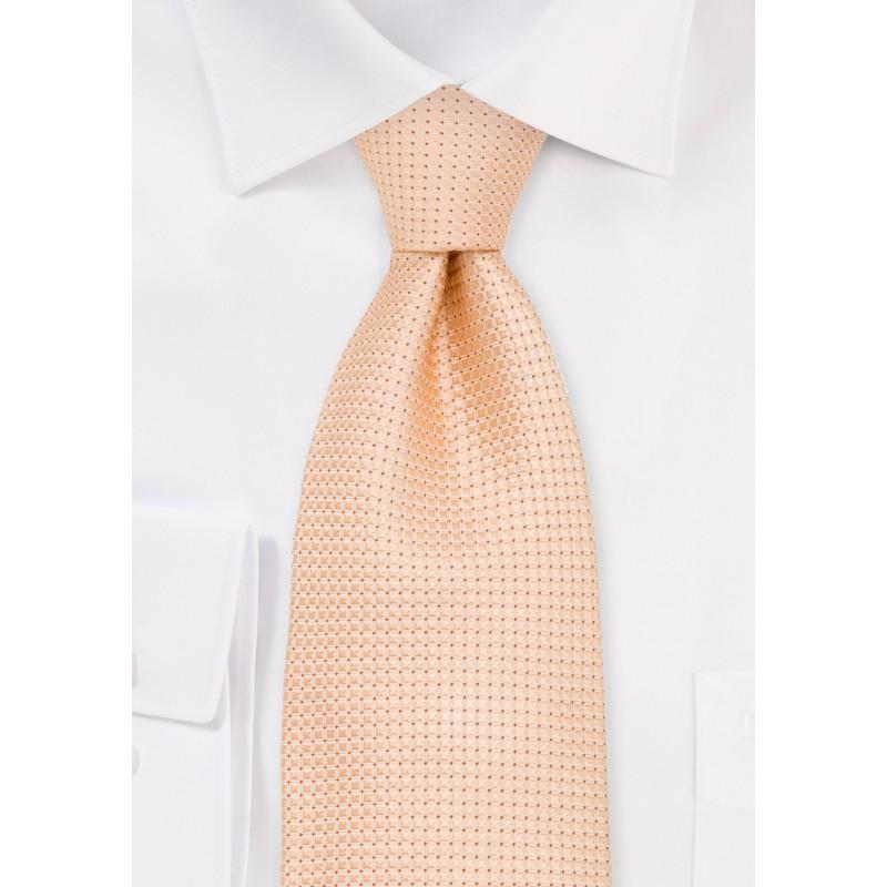 Light Apricot Mens Silk Tie