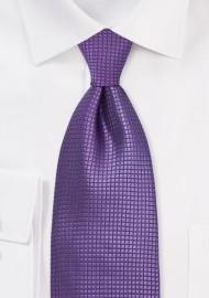 Electric Purple Kids Silk Tie