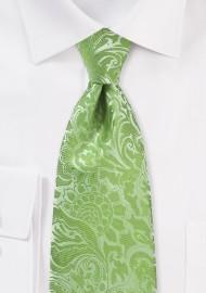 Midori Green Paisley Tie