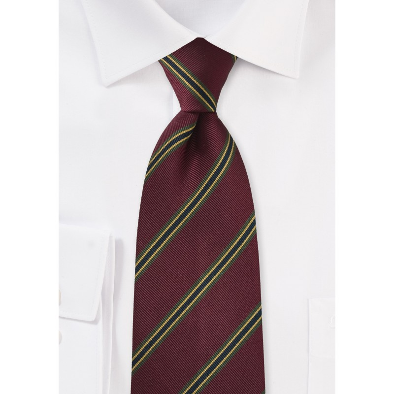 Extra Long Tie in Saturated Merlot