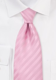 Extra Long Necktie in Rose-Pink