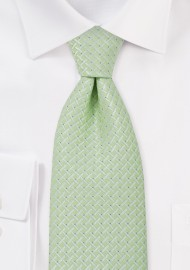 Tea Green Mens Necktie