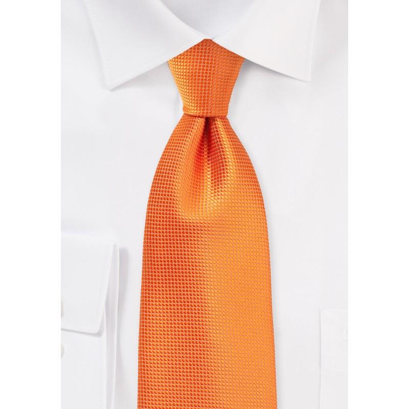 XL Necktie in Bright Nectarine