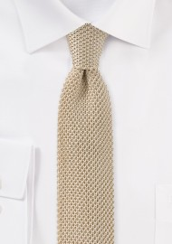 Golden Wheat Silk Knit Tie