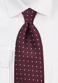 Polka Dot Tie in Burgundy