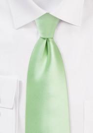 Soft Mint Wedding Tie in XL