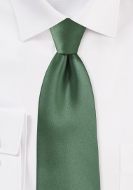 Olive Color Tie in Extra Long Length