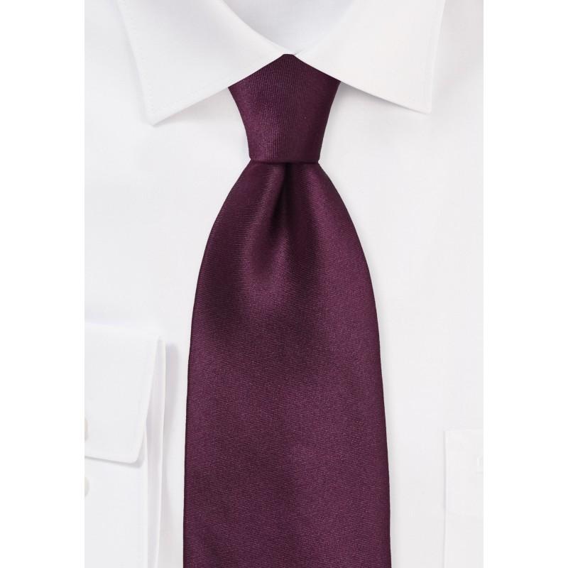 Kids Silk Tie in Solid Burgundy