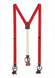 Bright Red Fabric Suspenders
