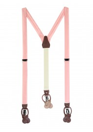 Candy Pink Dress Suspenders