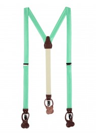 Bright Mint Green Summer Suspenders
