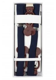 Dark Navy Fabric Suspenders in Box