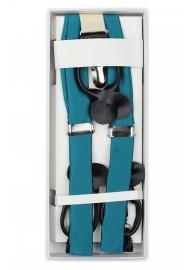 Oasis Hued Fabric Suspenders in Box