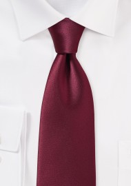 Rich Burgundy Red Colored Necktie