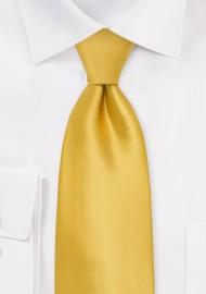 Kids Silk Tie in Golden Yellow