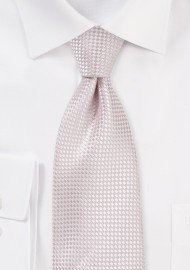 Textured Weave Necktie in Blush
