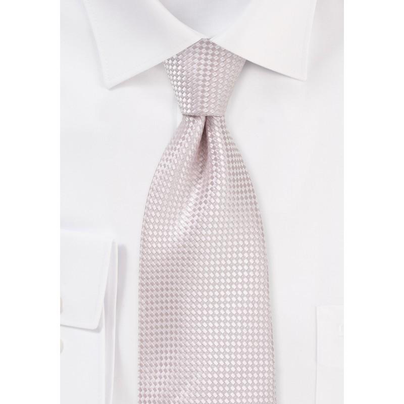 Textured Weave Necktie in Blush