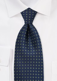 Navy & Green Polka Dot Tie