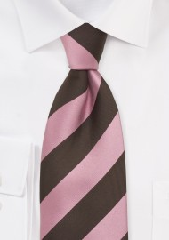 Kids Silk Tie in Pink and Brown
