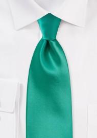 Bright Jade Green Kids Tie
