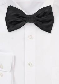 Classic Tonal Stripe Black Bow Tie