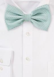 Men's Bow Tie in Mint Green