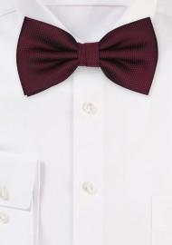 Matte Textured Bow Tie in Maroon
