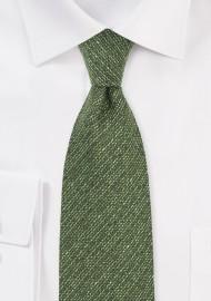 Autumn Wool Tie in Thyme Green