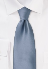 Slate Blue Solid Color Tie