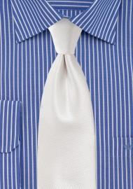 Ivory Wedding Tie with Texture