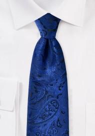Formal Paisley Tie in Royal Blue