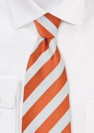 Safety Orange Striped Tie