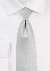 Pin Dot Tie in Platinum Silver