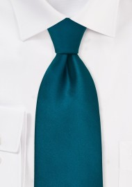 Turquoise blue tie  - Solid color necktie