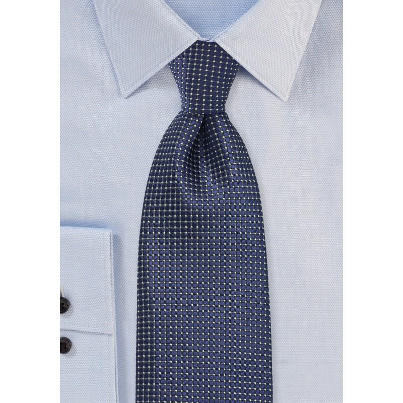 Patterned Tie in Sapphire Blue