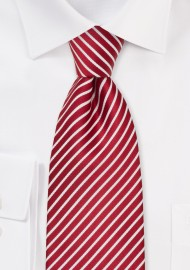 Cherry Red and White Tie in XL