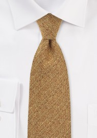 Harvest Gold Textured Necktie