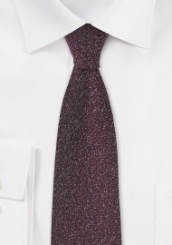 Skinny Designer Tie in Port Red